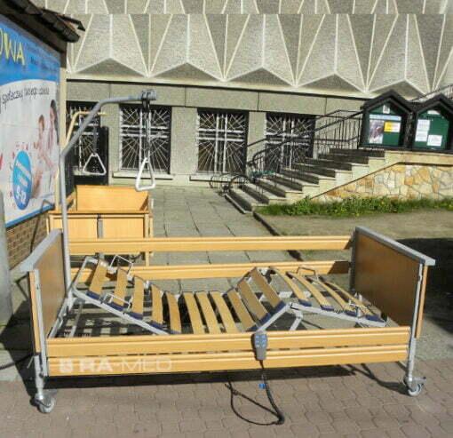 Łóżko rehabilitacyjne, elektryczne, drewniane - WYPOŻYCZALNIA / 1 m-c [Eloflex - .bock]