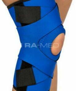 Stabilizator kolana z szynami elastycznymi i zapięciem krzyżowymi (K-08)