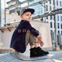 Trzewiki dziecięce na rzepy - MEMO (MALMO-CZARNE)