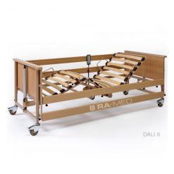 Łóżko rehabilitacyjne, elektryczne, drewniane - WYPOŻYCZALNIA / 1 m-c [Dali II]